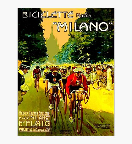 MILANO VINTAGE; Bicycle Racing Advertising Print Photographic Print