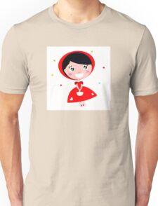 Cartoon red riding hood. Illustration / Wild red and black art Unisex T-Shirt