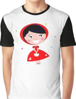 Cartoon red riding hood. Illustration / Wild red and black art Graphic T-Shirt