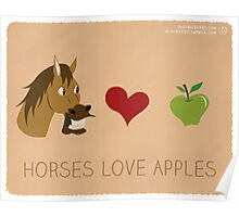 Horses Love Apples Poster