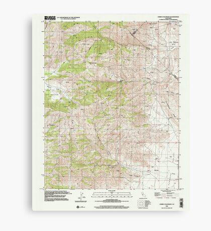 USGS TOPO Map California CA Cerro Colorado 100033 2000 24000 geo Canvas Print