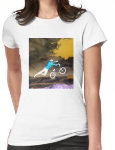 FLYING BIKE BMX Womens Fitted T-Shirt