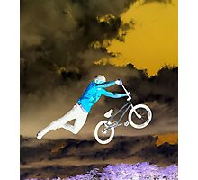 FLYING BIKE BMX Photographic Print