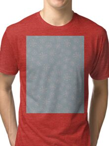 Silver snowflakes Tri-blend T-Shirt