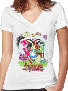 Fionna and Cake - Alice in wonderland Women's Fitted V-Neck T-Shirt