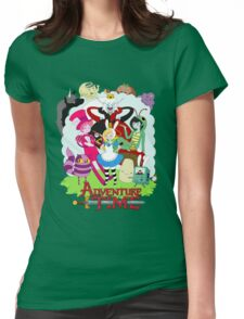 Fionna and Cake - Alice in wonderland Womens Fitted T-Shirt