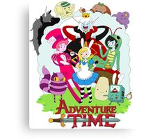 Fionna and Cake - Alice in wonderland Canvas Print