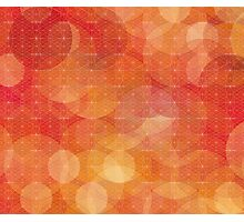 Red/orange modern abstract pattern Photographic Print