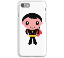 Cute young Super hero boy. Vector Illustration iPhone Case/Skin