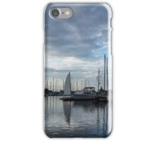 Soft Silver Morning - Reflecting on Sails and Yachts iPhone Case/Skin
