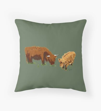 Highland Cow's Throw Pillow