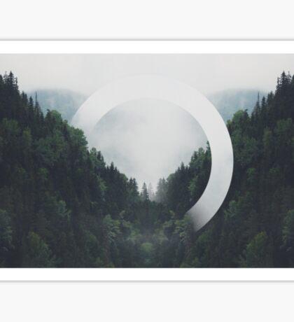 Trees n Fog Sticker