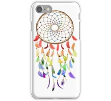 Rainbow Feathered Dream Catcher iPhone Case/Skin