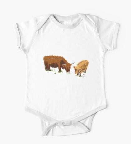 Highland Cow's One Piece - Short Sleeve