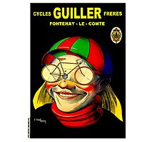 GUILLER CYCLES; Vintage Bicycle Advertising Prints Photographic Print