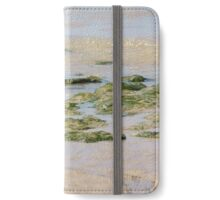 Low tide and Seaweed, rock pools and sand photograph, home decor, accessories and gift ideas iPhone Wallet/Case/Skin