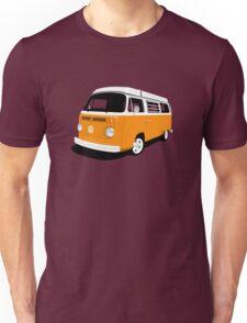 VW Camper Late Bay orange and white Unisex T-Shirt