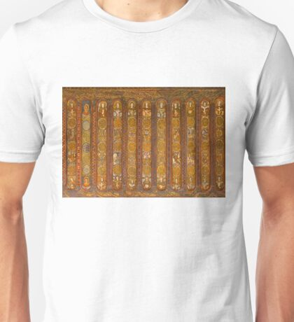 Historical religiouse murals at the Cathedral of Milan, Italy Unisex T-Shirt