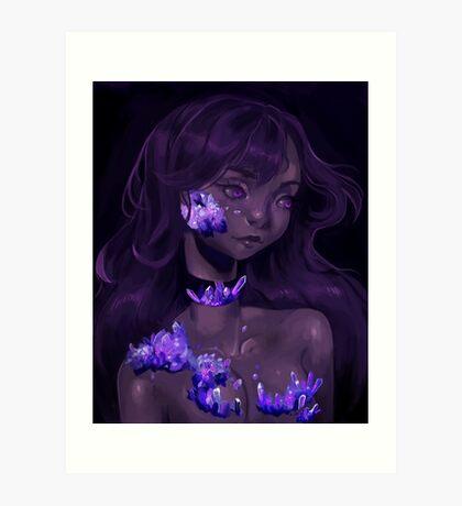 Crystal Girl Art Print