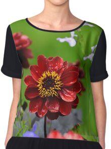 Dahlia flower Chiffon Top