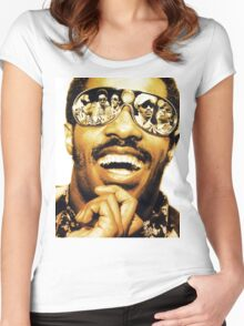 AhinSil01 stevie wonder Songs In The key Of Life Tour Women's Fitted Scoop T-Shirt