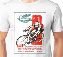 HALLE VINTAGE; Bicycle Racing Advertising Print Unisex T-Shirt