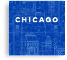 Chicago Icons Canvas Print