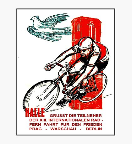 HALLE VINTAGE; Bicycle Racing Advertising Print Photographic Print