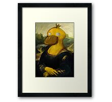 mona psyduck painting Framed Print