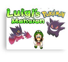 Luigi's Pokemon Mansion Metal Print