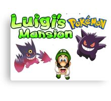 Luigi's Pokemon Mansion Canvas Print