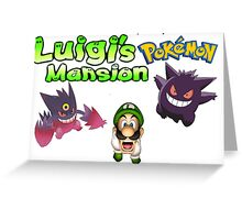 Luigi's Pokemon Mansion Greeting Card