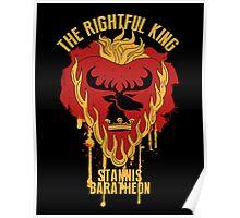 Stannis Baratheon Shirt Game of Thrones Poster