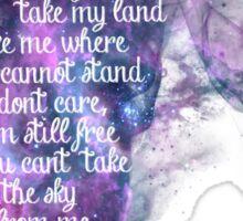 Firefly theme (The Ballad of Serenity) Sticker