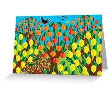 ORANGE AND LEMONS Greeting Card