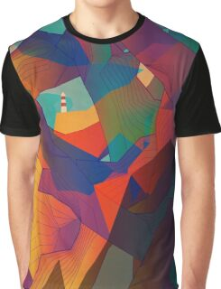 The Rocks by the Lighthouse Graphic T-Shirt