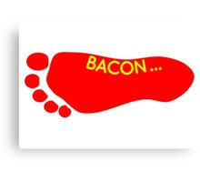 Bacon Foot Tattoo Canvas Print