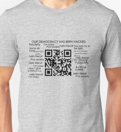 Mr.Robot fsociety Qr Code Unisex T-Shirt