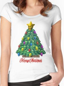 Merry Christmas Ainsley Women's Fitted Scoop T-Shirt
