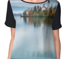 Autumn colours at Lake Bled Chiffon Top