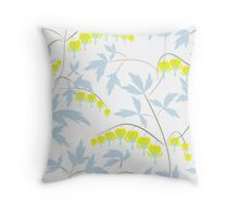 Floral pattern in yellow, blue, bright tone .  Throw Pillow