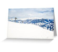 Ski Lift and Alps Greeting Card