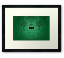 Digital Matrix Color Framed Print