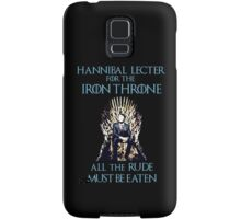 Hannibal Lecter for the Iron Throne  Samsung Galaxy Case/Skin
