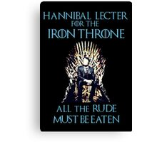 Hannibal Lecter for the Iron Throne  Canvas Print
