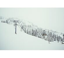 Ski Lift In The Snow Photographic Print