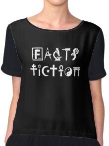 Facts VS Fiction, Science T-shirt Chiffon Top