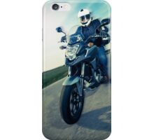 Biker on the road iPhone Case/Skin