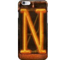 Steampunk - Alphabet - N is for Nixie Tube iPhone Case/Skin