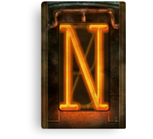 Steampunk - Alphabet - N is for Nixie Tube Canvas Print